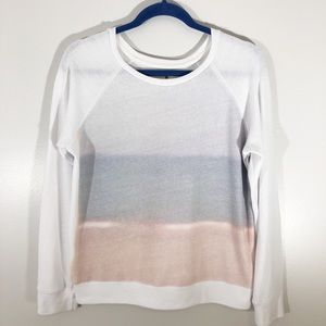 Sundry for Anthropologie Sunset Ombre Sweatshirt